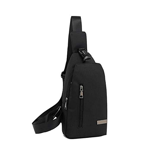 Sac Dos Plein Oxford Air Casual À Messenger Crossbody Bag Shanzwh Bandoulière Chest De Sports noir Multifonctions A6wxzd