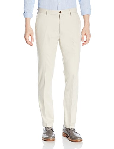 Goodthreads Men's Slim-Fit Wrinkle-Free Dress Chino Pant, Stone, 30W x 32L