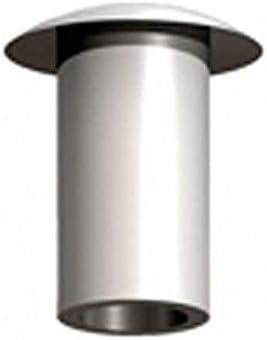 Pack of 100 RIVET SEMI-TUBE 0.218 BRASS
