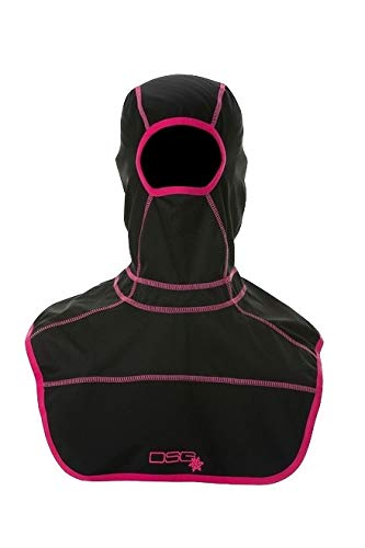 DSG Outerwear Women's Full Face Black Balaclava Vented Mouth Snowflake Mouth Panel