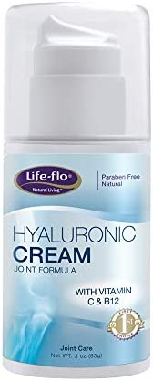 Life-Flo Hyaluronic Cream Joint Formula HA Cream With MSM Glucosamine Helps Soothe Refresh Joints Revitalize Skin Fragrance-Free 3oz
