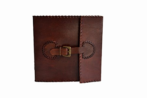 Handnmade Leather note book journal dairy blank book Handmade Paper book