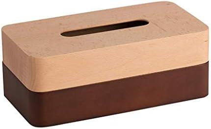 BZM-ZM 装飾デスクトップデコレーション木製ティッシュボックスリビングルームコーヒーテーブル家庭用トレイの贈り物(カラー:BROWN、サイズ:12.5 * 23.5 * 9CM / 4×9×3インチ)