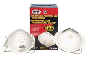 SAS Safety Corporation 8611 N95 Valved Particulate Respirator 10 Count by SAS Safety (Image #1)