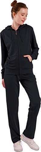 Facitisu Women's Track Suit Set 2 Piece Velvet Sweatsuits Jogging Sweatshirt & Sweatpants Sport Wear Outfits