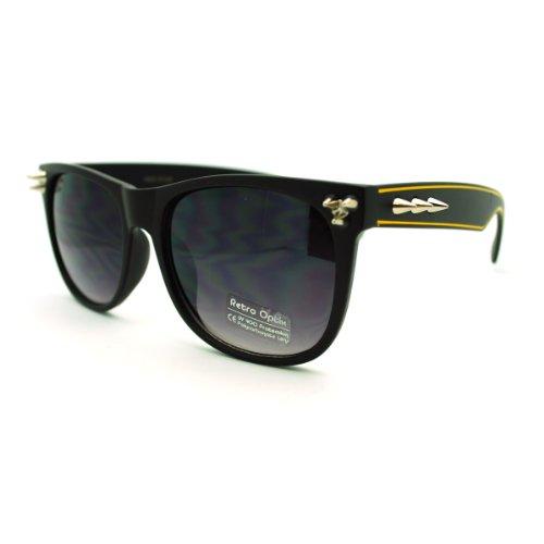 Spike Studded Sunglasses Unisex Punk Rock Fashion Shades Black - Sunglasses Spike