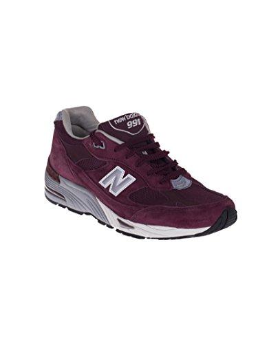 Sneaker Nb 991 Realizzato In Inghilterra In Pelle E Rete Bordeaux