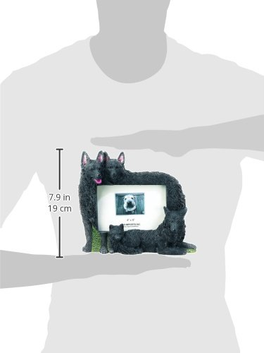 Schipperke Gift Picture Frame Holds Your Favorite 4x6 Inch Photo, A Hand Painted Realistic Looking Schipperke Family Surrounding Your Photo. This Beautifully Crafted Frame is A Unique Accent to Any Home or Office. The Schipperke Picture Frame Is The Perfe by E&S Pets