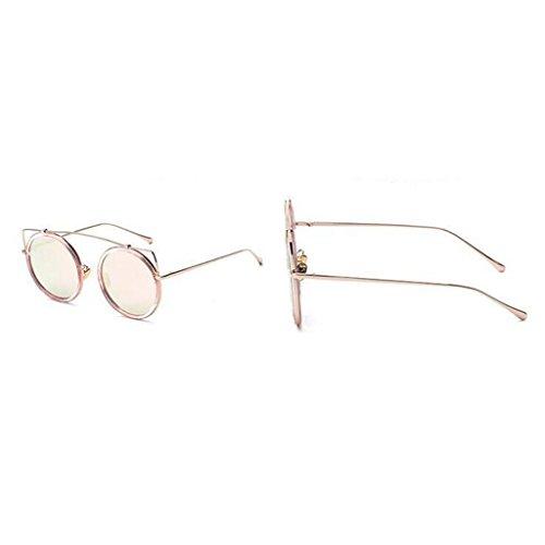 de Élégant Personnalité Plage Polarisée Pink de Soleil Lunettes QZ Pink Couleur Rivets Lunettes Lumière HOME Vintage Mode Soleil qUcOYC