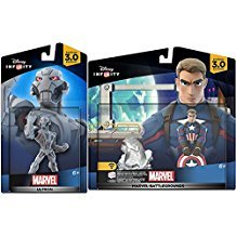 Marvel Infinity Super Hero Bundle Avengers Ultron Character Figure & Captain America Civil War Battlegrounds Hero combo Pack