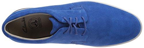 Clarks Denner Motion - zapatilla deportiva de cuero hombre azul - Blau (Blue Suede)