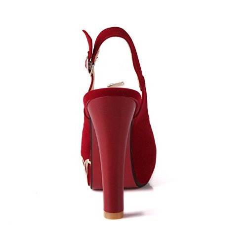 EU 40 Sandales BalaMasa 5 Femme pour Rouge ASL01798 YIxAnY7r