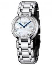 Longines PrimaLuna Stainless Steel & Diamond Womens Watch 30mm L8.112.0.87.6