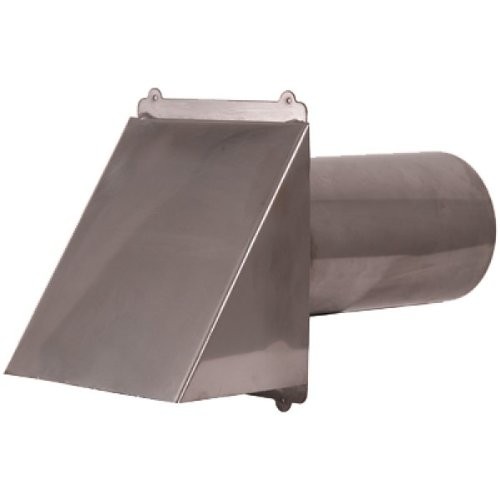 "4"" Stainless Steel Flush Mount Hooded Dryer / Exhaust Ven..."