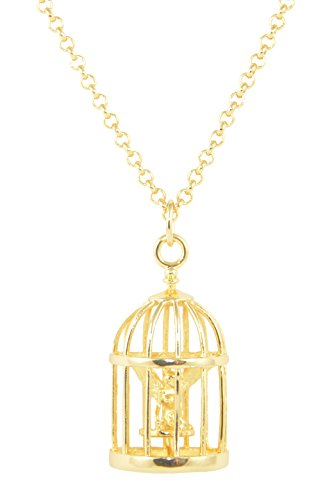 (Disney Couture Tinker Bell Cage Necklace)