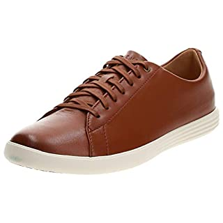 Cole Haan Men's Grand Crosscourt II Sneakers, Tan Leather Burnsh, 13