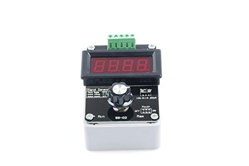 KNACRO Adjustable Current Voltage Analog Simulator, 0-20mA Signal Generator, DC 0-10V 4-20mA Changeable Current Source for Valve Adjusting PLC Panel LED Testing, Transmitter Output Simulation