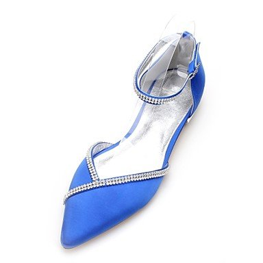 Evening UK4 Two Summer Wedding Heelivory Spring Shoes US6 CN36 Maryd'Orsay Women'S Comfort Flat RTRY amp;Amp; Satin Dress Wedding Party Piece EU36 Rhinestone amp;Amp; A6wxX