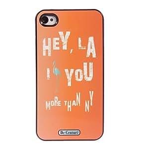 WEV Orange Design Aluminum Hard Case for iPhone 5/5S