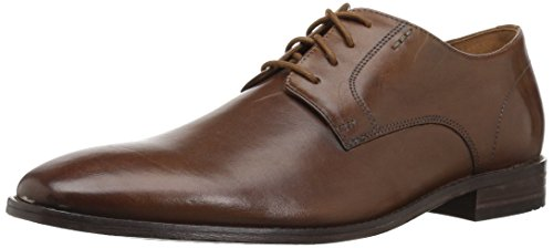Bostonian Men's Nantasket Fly Oxford, Dark tan Leather, 10 Medium - Tan Fly