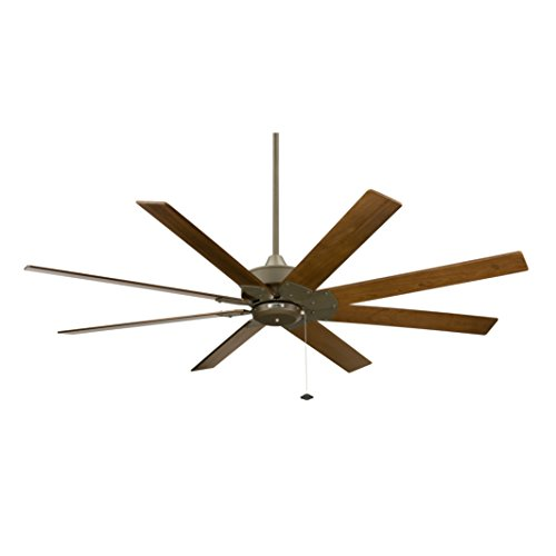 Fanimation FP7910OB Levon 8 Blade ceiling Fan, 63 inches - Oil-Rubbed Bronze with Walnut Blades and Pull-Chain from Fanimation
