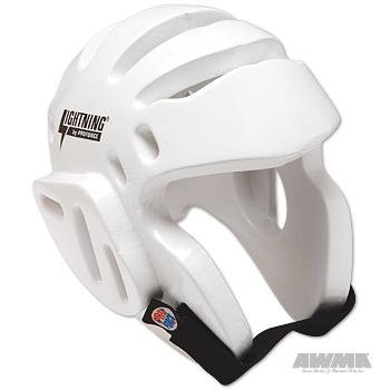 Pro Force Lightning Sparring Headgear - White - Large