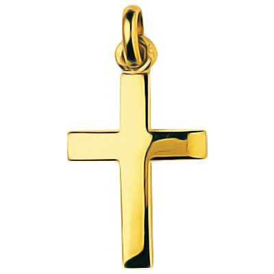 So Chic Bijoux © Pendentif Croix Christ Jésus Crucifix Fil Carré Or Jaune 750/000 (18 carats)