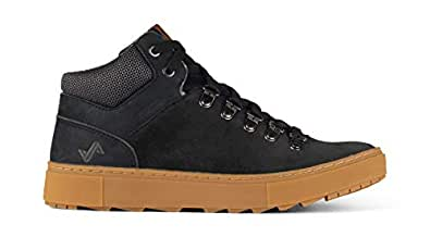 Forsake Lucie Mid - Women's Waterproof Leather Mid-Top (5 M US, Black)