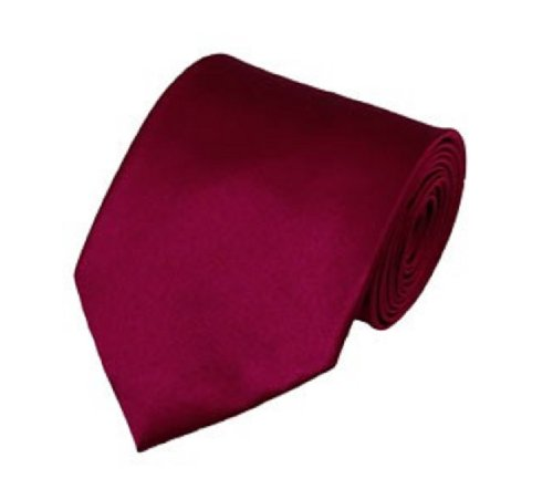 - Men's Smooth Satin Solid Color Extra Long XL Necktie, Raspberry