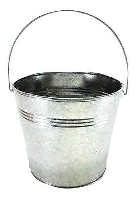 (3 pc set Galvanized Buckets w/ Ridges & handles 1quart 4 1/2 inch wide, 4 inch tall )