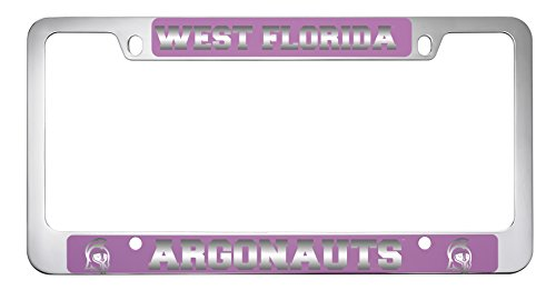 University of West Florida-Metal License Plate Frame-Pink