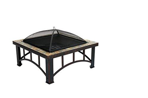 Cheap Terra Verde Home DFP104 Square Fire Pit, 19.29″ x 30″ x 30″, Bronze