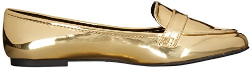 Qufid Womens Swirl-61 Slip-on Mocassino In Oro