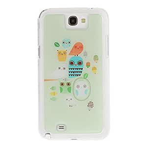 JOE Cartoon Owls Drawing Pattern Neutral Stiffiness Silicone Gel Back Case Cover for Samsung Galaxy Note2 N7100