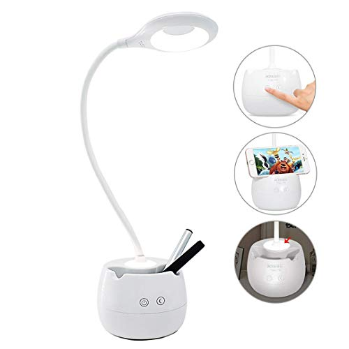 Kitlit LED Desk Lamp for Kids,Dimmable Eye Care Study Book Light with Pen Holder&Night Light&USB Charging Port for Girls Boys Reading Light by Kitlit