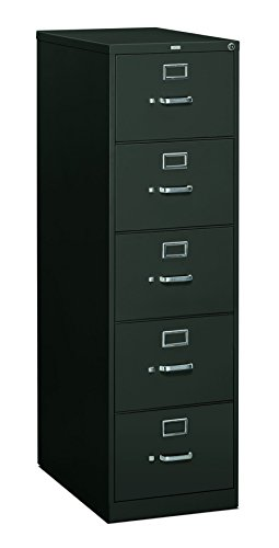 500 Series Four Drawer (HON 5 Drawer Filing Cabinet - 310 Series Full-Suspension Legal File Cabinet, 26-1/2-Inch Drawers, Charcoal (H315c))