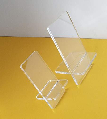(YongPan Combined Cross Acrylic Display Stand, Detachable X-Type Acrylic Mobile Cell Phone Holder Wallet Jewelry Sandal Display Stand Rack, 2Sets /LOT (2.17x1.97x3.35inch) )