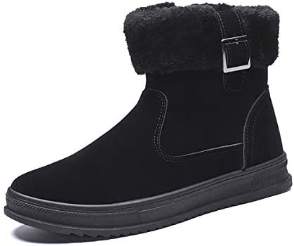 メンズスノーブーツ、男性のブーツ冬の雪暖かく暖かい毛皮のブーツスニーカー雪の男性ハイキング毛皮の襟を開始するために防水レザーの冬の靴の雨