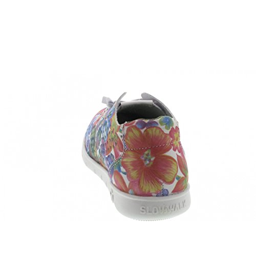 Morbi Cuir Multicolore Cuir Slipper Morbi Fleur Multicolore Femme Crust Femme Slowwalk Slipper Slowwalk Fleur Crust qtHwOZt
