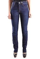 Love Moschino Women S Mcbi29832 Blue Cotton Jeans