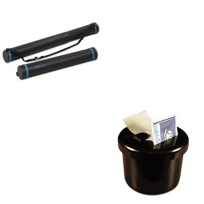 KITLEE40100SAF3053 - Value Kit - Safco Plastic Telescoping Document Tube (SAF3053) and Lee Ultimate Stamp Dispenser (LEE40100)