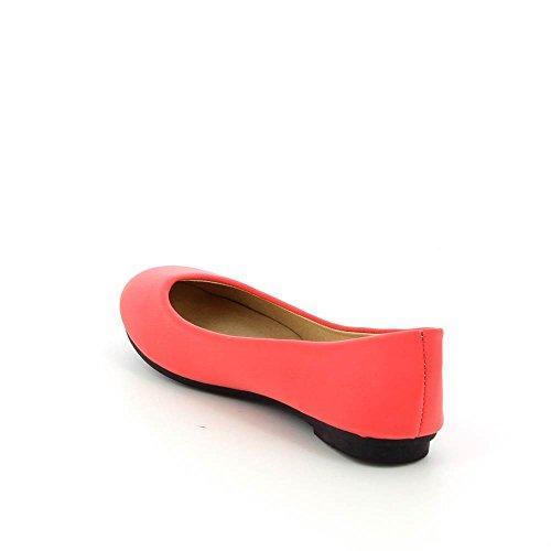 Bailarinas de satén planas Rosa - rosa