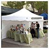 10' x 10' Commercial E-Z UP Instant shelter with 4 zippered sides