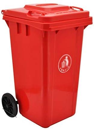 滑らかな表面 ストリートごみビン、ファクトリーホテルキッチン学校ホイルごみ箱簡単にきれいなプラスチックごみソートボックス100L、120L リサイクル可能なデザイン (Color : Red, Size : 45*54*90CM)