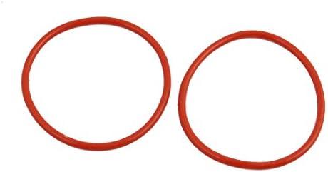 uxcell Oリング 40mm OD 1.9mm幅 ニトリル・ブタジエン・ゴム NBR レッド ラウンド 2個入り