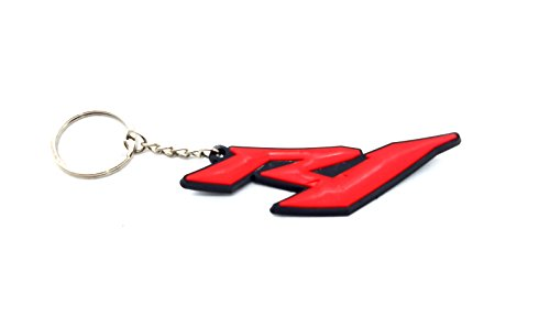 Rubber Motorcycle Key Holder Chain Fob Rings For YAMAHA R1 YZF R1000 Red