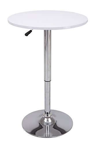 Vogue Furniture Direct Height Adjustable Bar Table, White VF1581021