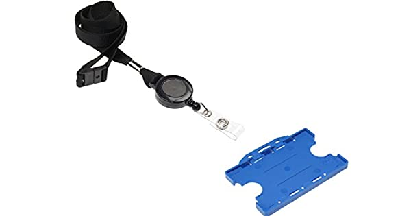 Amazon.com: ID Card It Azul ID Badge Holder Doble Cara, con ...