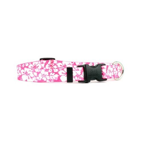 "Island Floral Pink Dog Collar - Size Extra Small 8"" to 12"" L"