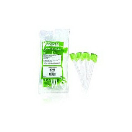Halyard Health 12249 Oral Care Swabs, Bulk Packaged, Non-Sterile, Dentrifrice, 6'' (50 Boxes 20, 1000 Total)